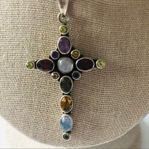 Vintage Nicky Butler Silver and Gemstone Necklace